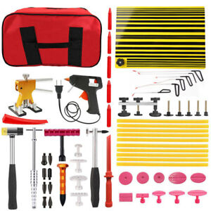 Paintless Dent Repair Puller Hail Rods Slide Hammer Removal Lifter Tools Bag