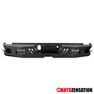 For 2011 2019 Gmc Sierra Chevy Silverado Truck Black Rear Bumper Face Guard 1pc