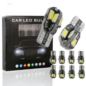 5pcs Canbus T10 5630 5730 8 Smd Led Car Side Wedge Light Bulb Width Lamp