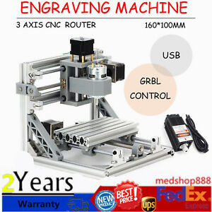 3 Axis Cnc Router Mini Wood Carving Machine 1610 Pcb Milling With Grbl Control
