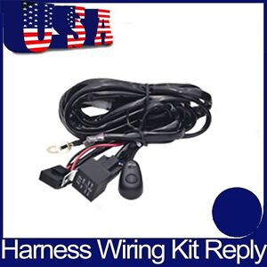 Wiring Harness Kit Loom For Led Work Offroad Light Bar With Fuse Relay 12v 24v