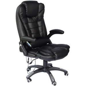 About Home Office Computer Desk Massage Chair Executive Ergonomic Heate 3