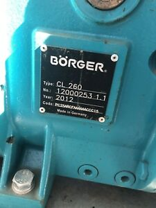 Borger Boerger B rger Lobe Pump Cl260 100gpm To 400gpm 3 Inlet outlet Cl 260