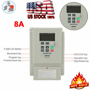 1 5kw 2hp Vfd 8a 220v Single Phase Speed Variable Frequency Drive Inverter