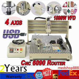 Cnc Router 6090 Engraver Milling Machine Engraving Drilling 4 Axis Usb Desktop