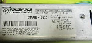 Power One Map80 4001 Input 110 230 12vdc 24vdc 5vdc Output Used With Cabling