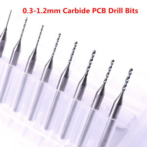 Hkatops 10pcs Tungsten Steel Carbide Pcb Cnc Micro Drill Bits Milling 0 3 1 2mm