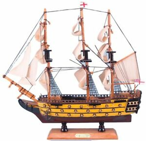 Large Detailed Wooden Assembled Display Model Of The Hms Victory