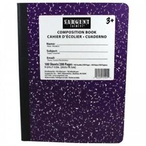 Sargent Art Sar231545bn Purple Composition Book 100 Sheets Per Pack 12 Each