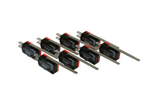 8 Pc Temco Micro Limit Switch Long Lever Arm Spdt Snap Action Cnc Home Lot