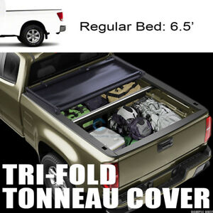 Tri Fold Soft Tonneau Cover For 04 15 Nissan Titan King Extended Cab 6 5 Ft Bed