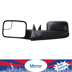 2 Manual Tow Mirrors None Heated For 94 01 Dodge Ram 1500 94 02 2500 3500 Pickup