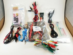 Test Lead Kit Multimeter Probe Wire Cable 9 Double Aligator Clips