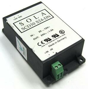 Sola Switching Power Supply Ac dc Converter 30w 24vdc Din Mount scd30 S24 dn