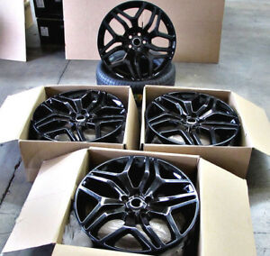 22 Wheels Fit Range Land Rover Hse Sport Charger Gloss Black 5x120 Rims Set 4