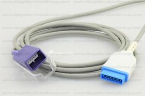 Ge Marquette Nellcor Oximax Spo2 7ft 2 2m Patient Extension Adapter Cable