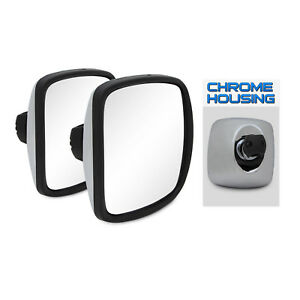 2pc 03 06 Freightliner Columbia Wide Angle Mirror Housing 8x8 5 Chrm Replacement