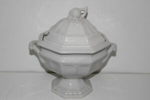 Vintage Red Cliff Ironstone Soup Tureen W Lid