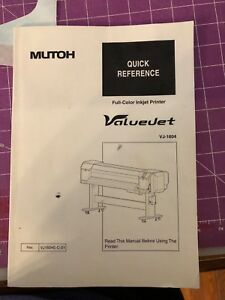 Mutoh Valuejet 1604 64 Eco Solvent Printer