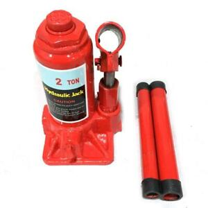 Red 2 Ton Hydraulic Bottle Jack Automotive Car Repair Shop Lift Tool