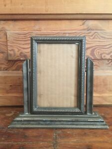 Vintage Art Deco Wooden Swing Picture Frame On Stand