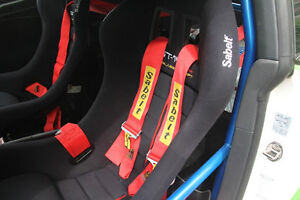 Universal Red 4 Point Camlock Quick Release Racing Car Seat Belt Harness Sabelt