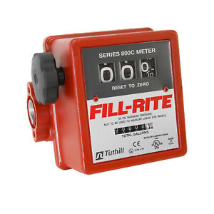 Tuthill fill rite 807c1 5 20 Gpm Heavy Duty Mechanical Flow Fuel Gas Meter
