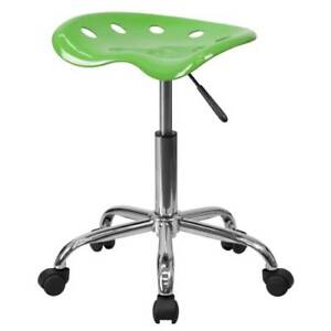Delacora Lf 214a spicylime gg Lime 17 w Metal Swivel Seat Stool W Tractor Seat