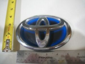 Toyota Emblem Oval Blue Hybrid Symbol Logo Chrome Badge Oem Used Genuine