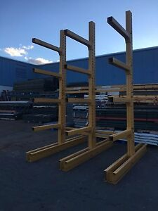 12 Tall Jarke Cantilever Racking 3 Tower Set 8 Wide Overall Single Sided hd