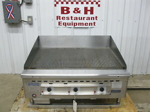Rankin Delux 36 Rd85 36 c Heavy Duty Grooved Ribbed Top Griddle Grill 3
