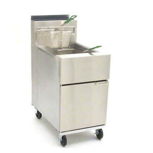 Frymaster Sr152g Dean 50lb Gas Deep Fryer W 6 Adjustable Legs 120 000 Btus