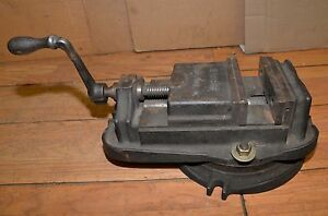 Harris Us Made Machinists Vise 6 1 2 Jaws Swivel Base Drill Mill Lathe To