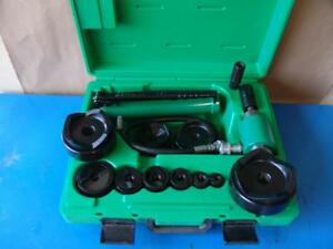 Greenlee 7310 Hydraulic Knockout Punch And Die Set 1 2 To 4 8 31 9