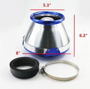 Universal Car Turbo Racing 3 4 Inch Cone Heat Shield Cold Air Intake Filter