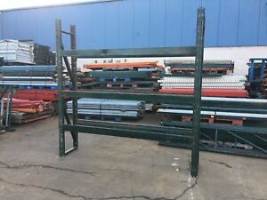 3 Sections Pallet Rack 20 d X 8 t X 24 l Slotted Style 4 Uprights