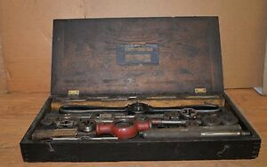 Huge Antique Bay State Tap Die Set Blacksmith Machinists Tool Lot Collectible