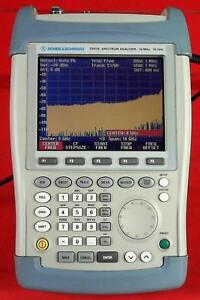 Rohde Schwarz Fsh18 Spectrum Analyzer 10mhz 18ghz
