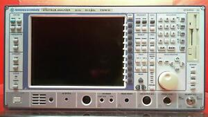 Rohde And Schwarz Fsem30 b22 Spectrum Analyzer 20 Hz To 26 5 Ghz 100160
