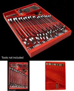 Tool Sorter Wrench Precise Organizer Holder Rack Toolbox Rail Home Tray Red Box