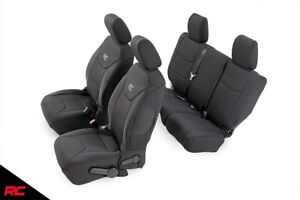 Rough Country Neoprene Seat Covers Black Fit 2011 2012 Jeep Wrangler Jk 4dr Set