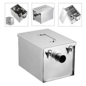 High quality 8lb 5gpm Gallons Per Minute Grease Trap Stainless Steel Interceptor