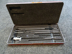 Starrett No 124 Solid Rod Inside Micrometer Set Machinist