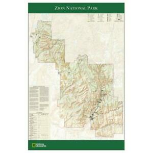 National Geographic Re01020343 Map Of Zion National Park Poster