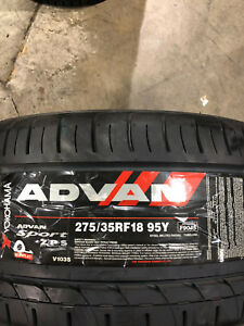 2 New 275 35 18 Yokohama Advan Sport Run Flat Tires