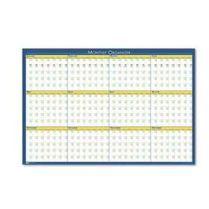 House Of Doolittle 642 12 month Laminated Wall Planner 36 X 24