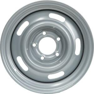 Speedway Gm Style 15x7 In Rally Wheel 5 On 4 75 Inch Bp Silver