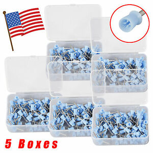 5 Boxes Dental Prophy Tooth Polish Polishing Cups Latch Type Rubber Blue Firm E