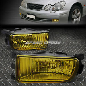 For 98 05 Lexus Gs 300 400 430 S160 Yellow Lens Oe Bumper Driving Fog Light Lamp
