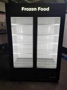 2 Door Freezer Glass Display True Freezer Merchandiser Ice Frozen Gdm 49f